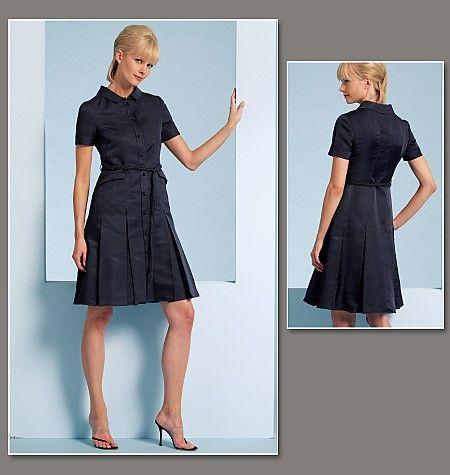 Vogue 1107 Chado Ralph Rucci Shirtdress Pattern Size 14-20 ...