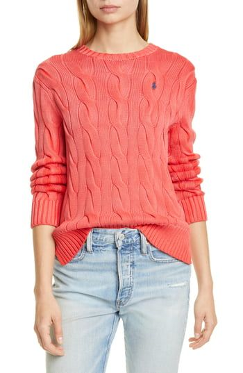 Amazing offer on Polo Ralph Lauren Cable Sweater online #ralphlaurenwomensclothing