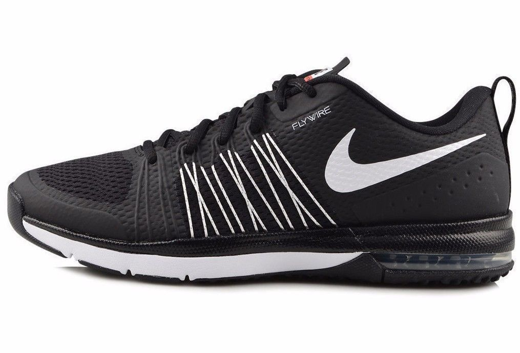 new product 01928 8778b NIKE AIR MAX EFFORT TR TRAINERS NEW MENS SIZE 10 BLACK WHITE FLYWIRE