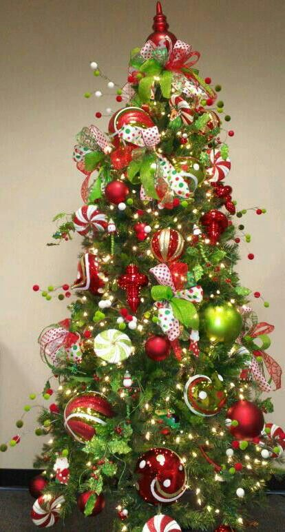 Christmas Green And Red.Lime Green And Red Tree These Are The Colors Im Going To