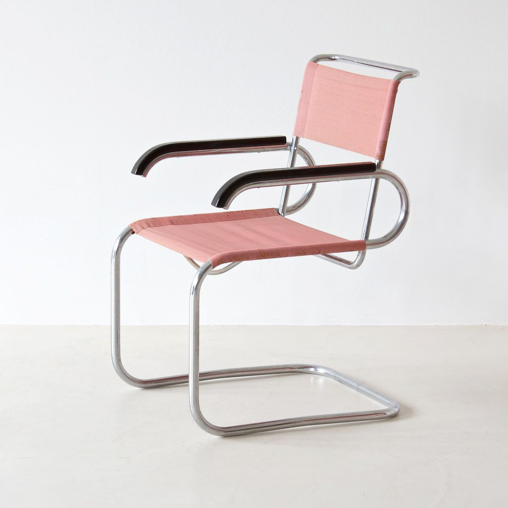 Genial Marcel Breuer B55 Cantilevered Chair   In Pink!
