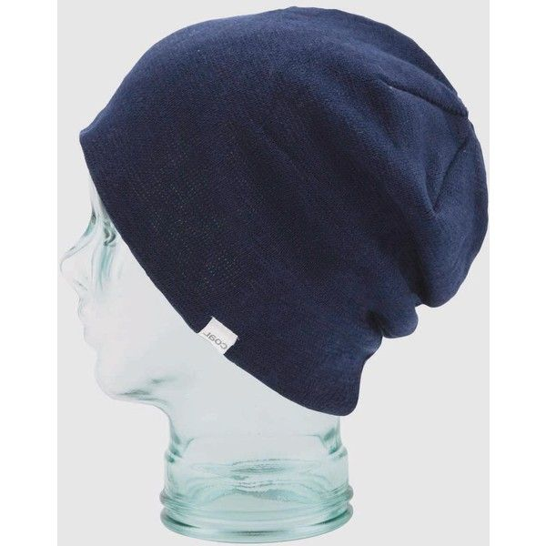 Coal Beanies Coal Fields Oversized Cotton Beanie Hat - Navy Blue ( 46) ❤  liked 0808bc8dfb3