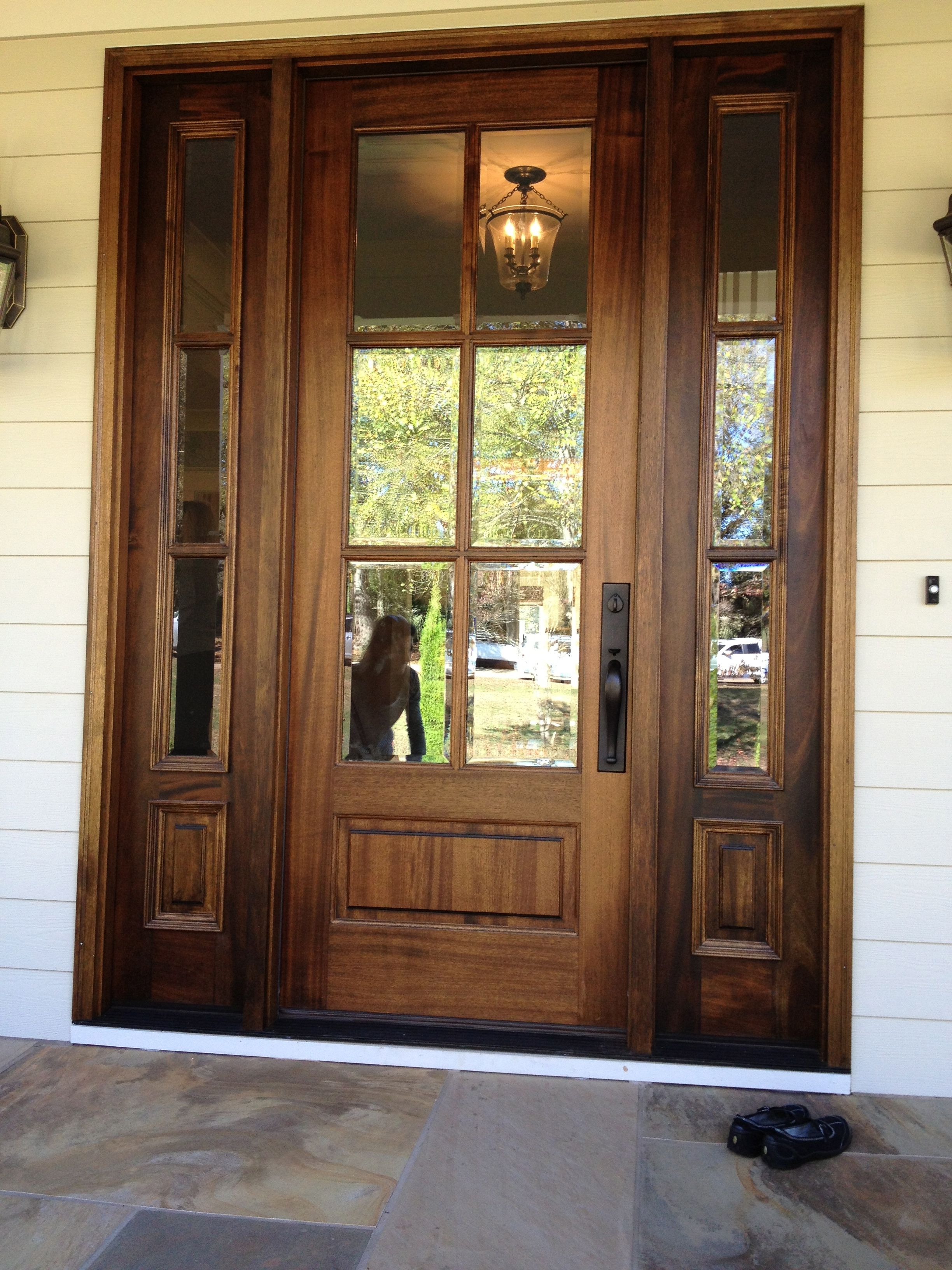 6 Lite Brazilian Walnut Entrance Door Jpg Exterior Front Doors House Front Door Front Door Design