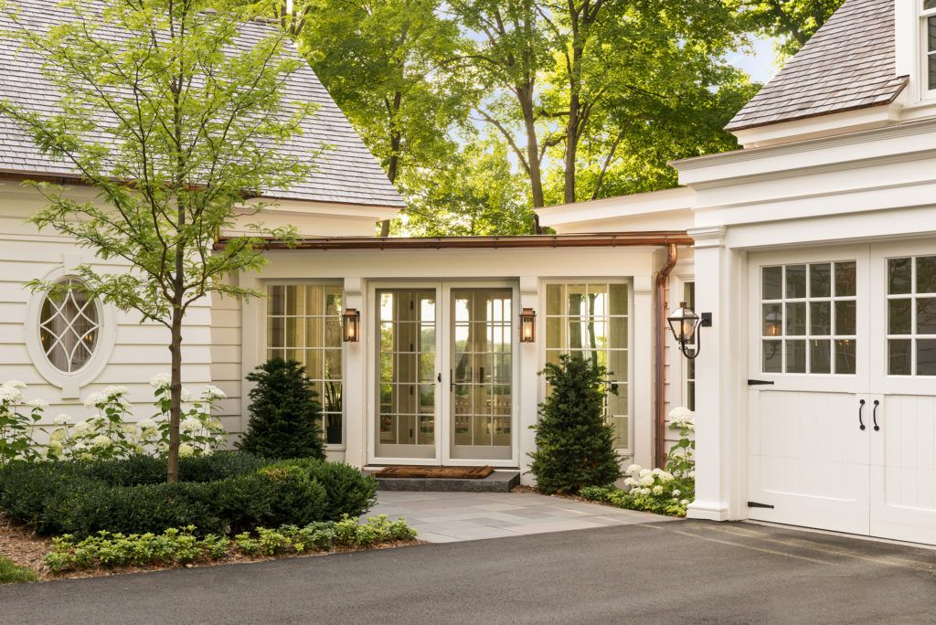 Exterior View Of The Breezeway Which Allows Guests To Walk Through The Home On The Way To The Lake In 2020 House Exterior Breezeway House Floor Plans