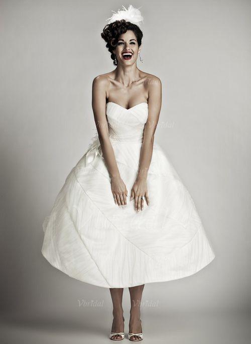 Brautkleider - $151.77 - Duchesse-Linie Herzausschnitt Knielang Taft ...