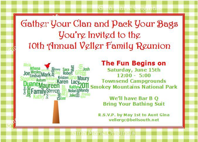 Family Reunion Invitation Letter Template | Family Reunion Invitations  Wording