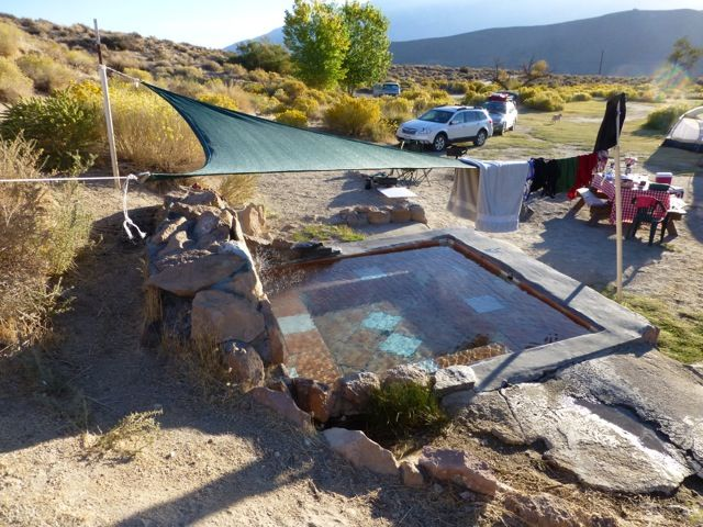California Junket Desert Camping With Your Own Private Hot Tub In Benton Springs Ca