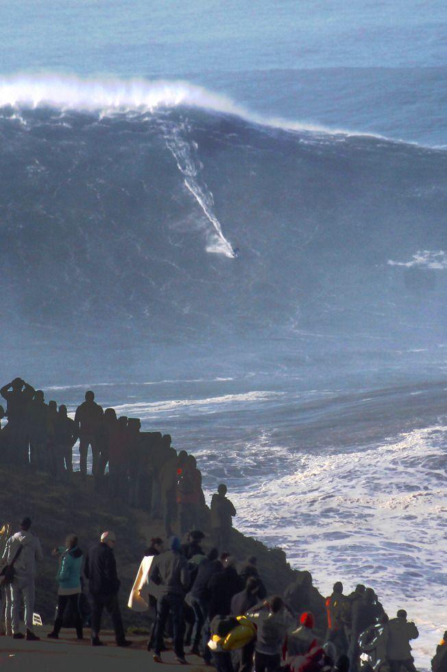 wslofficial:  Nazaré  Surfer | Sebastian Steudtner  MOREXXL Big Wave Awards   Photo | Abel Santos