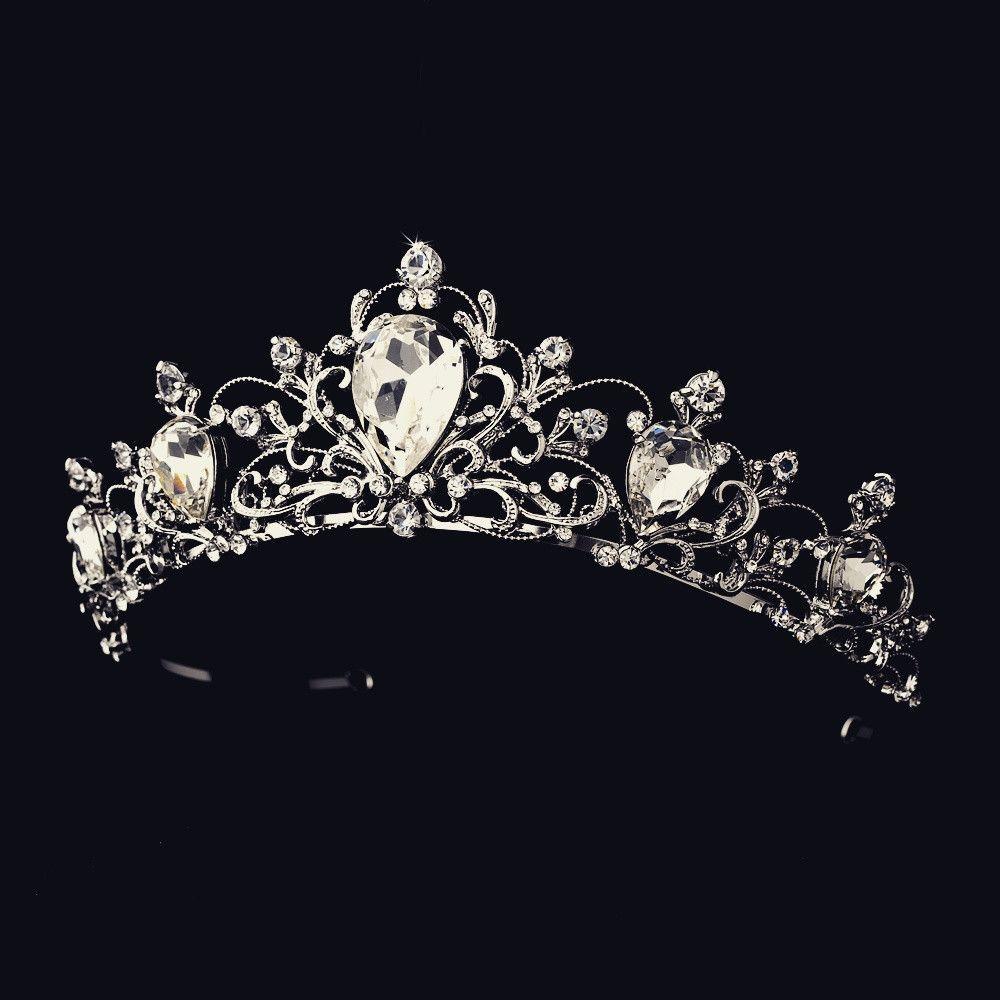 The Elisabeth Antique Rhodium Tiara