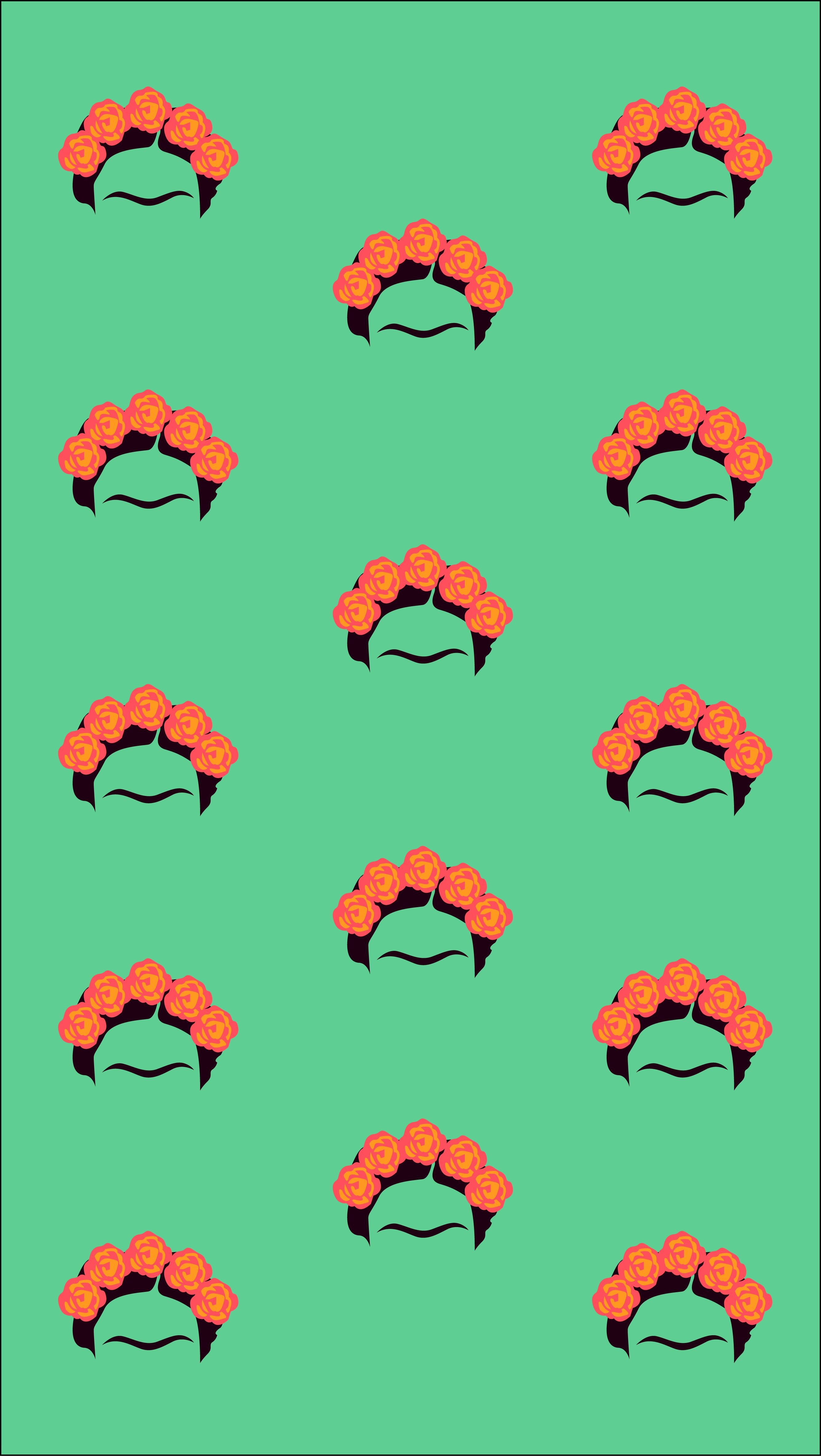 Frida Kahlo Pattern Wallpaper Sarah Zbidi Frida Khalo