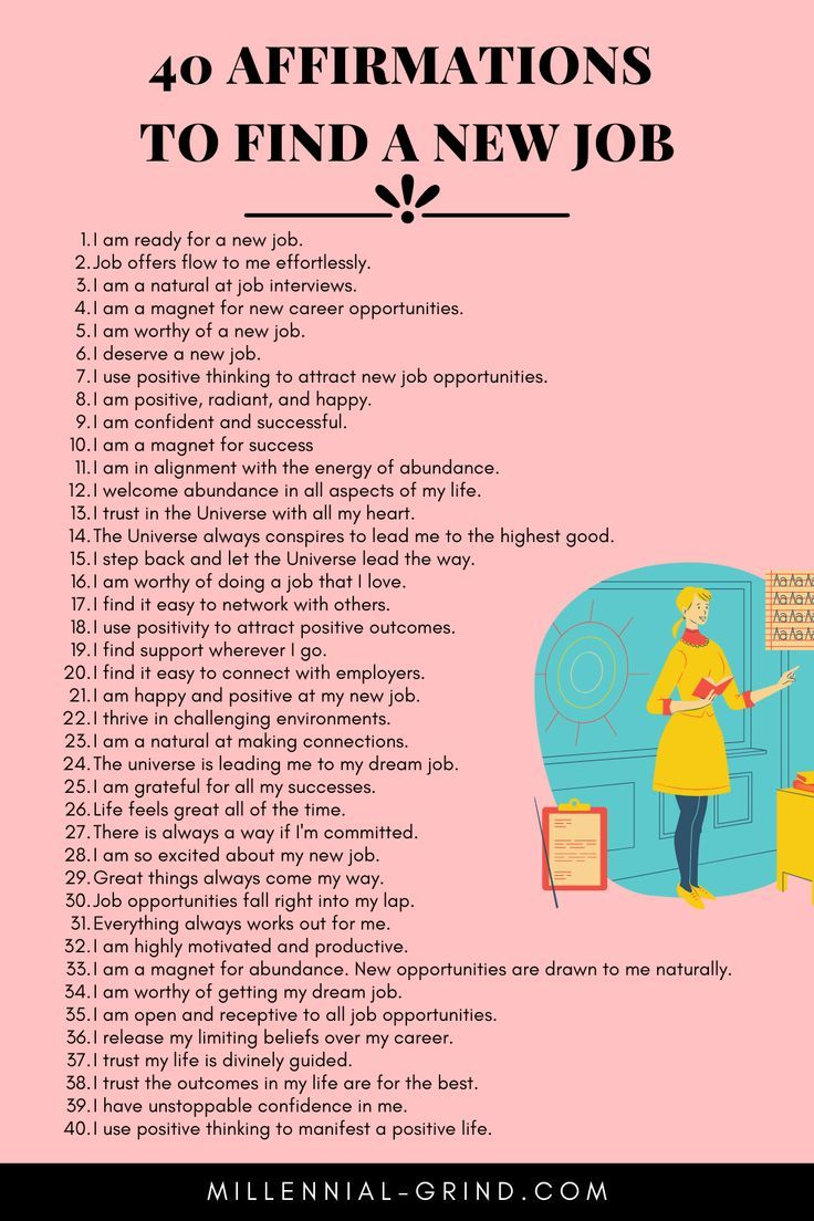 40 Affirmations To Find A New Job