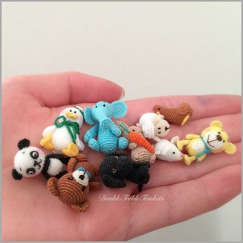 Micro mini crochet critters | Amigurumi | Pinterest | Crochet, Minis ...