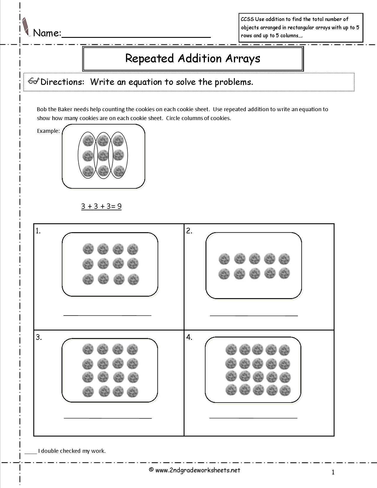 arrays 2nd grade - Google Search   Array worksheets [ 1650 x 1275 Pixel ]