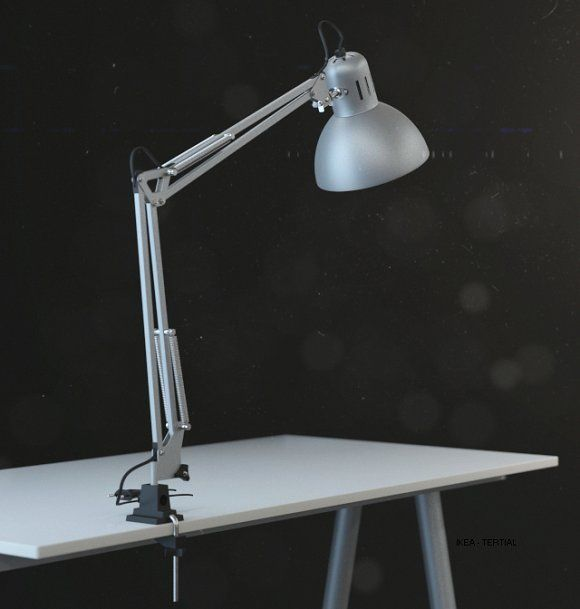 Ikea Tertial Work Lamp 3d Model Graphics Ikea Tertial Work Lamp Detailed Model Real Dimensions Opened Stack For A Cable Ikea Table Lamp Lamp Work Lamp