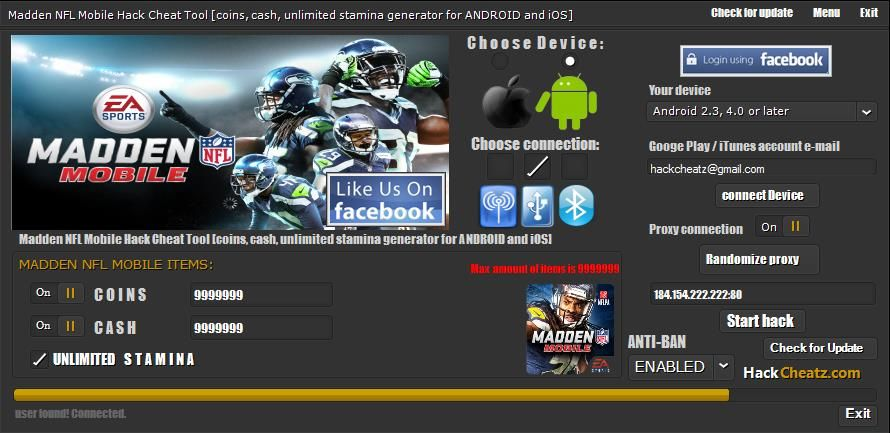 madden nfl mobile hack cheat unlimited cash coins and stamina