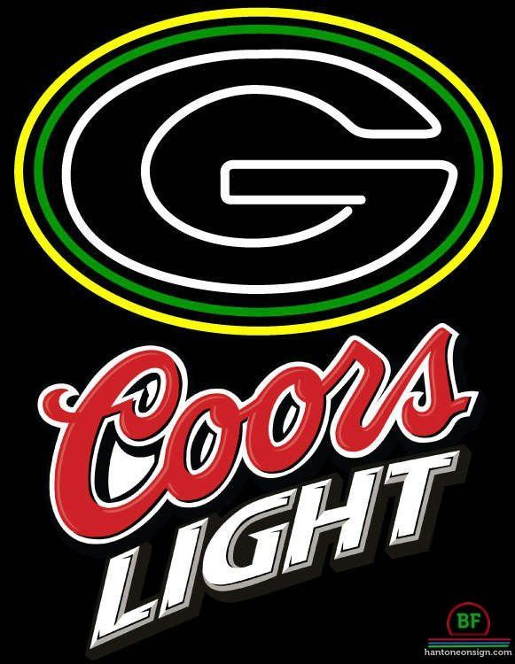 Coors Light Green Bay Packers Neon Sign NFL Teams Neon Light