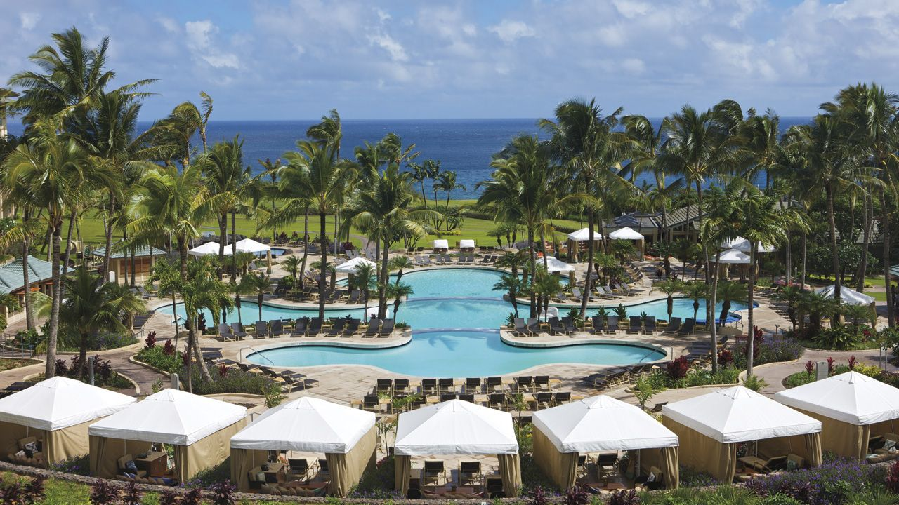 The Ritz Carlton, Kapalua Maui.  Three-tier swimming pool including adult-only section, children's pool and luxury cabanas.