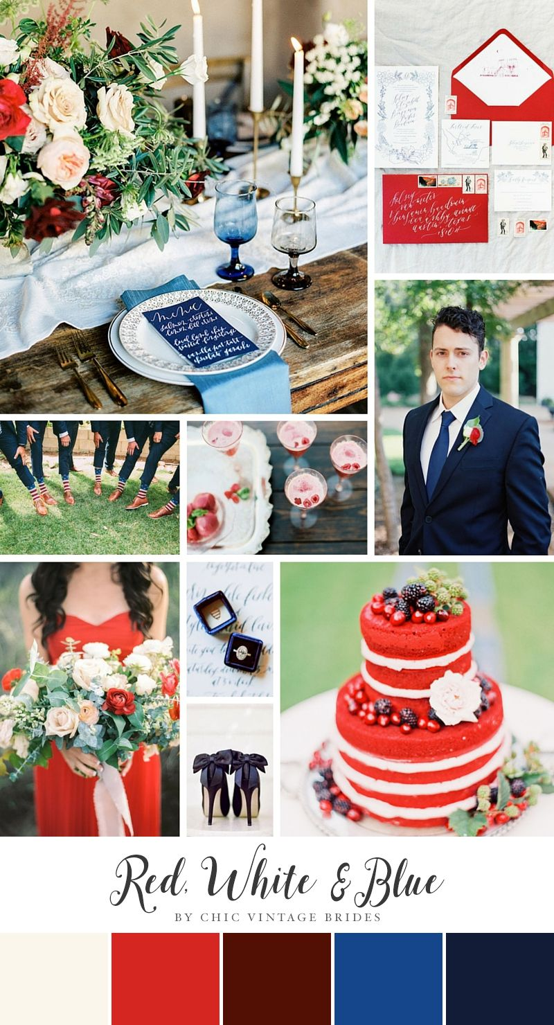 A Chic Red, White & Blue Colour Palette for a 4th of July