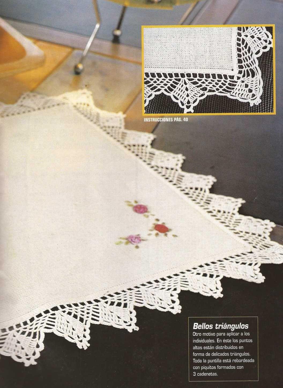 Patrón #1186: Puntilla para Individual a Crochet | crochet ...