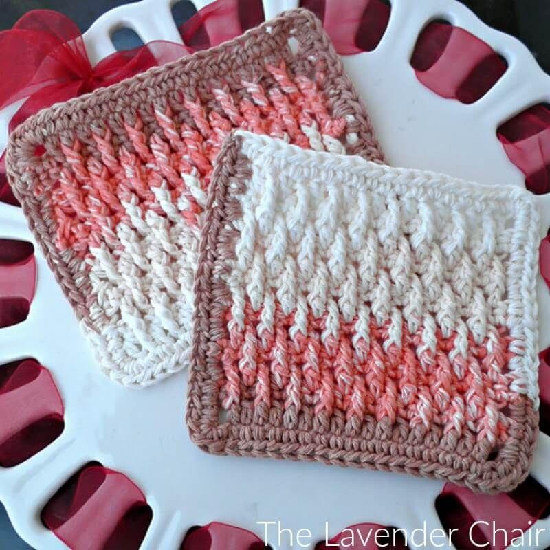 Textured Dishcloth Crochet Pattern   Patrón gratis, Patrones y Puntos