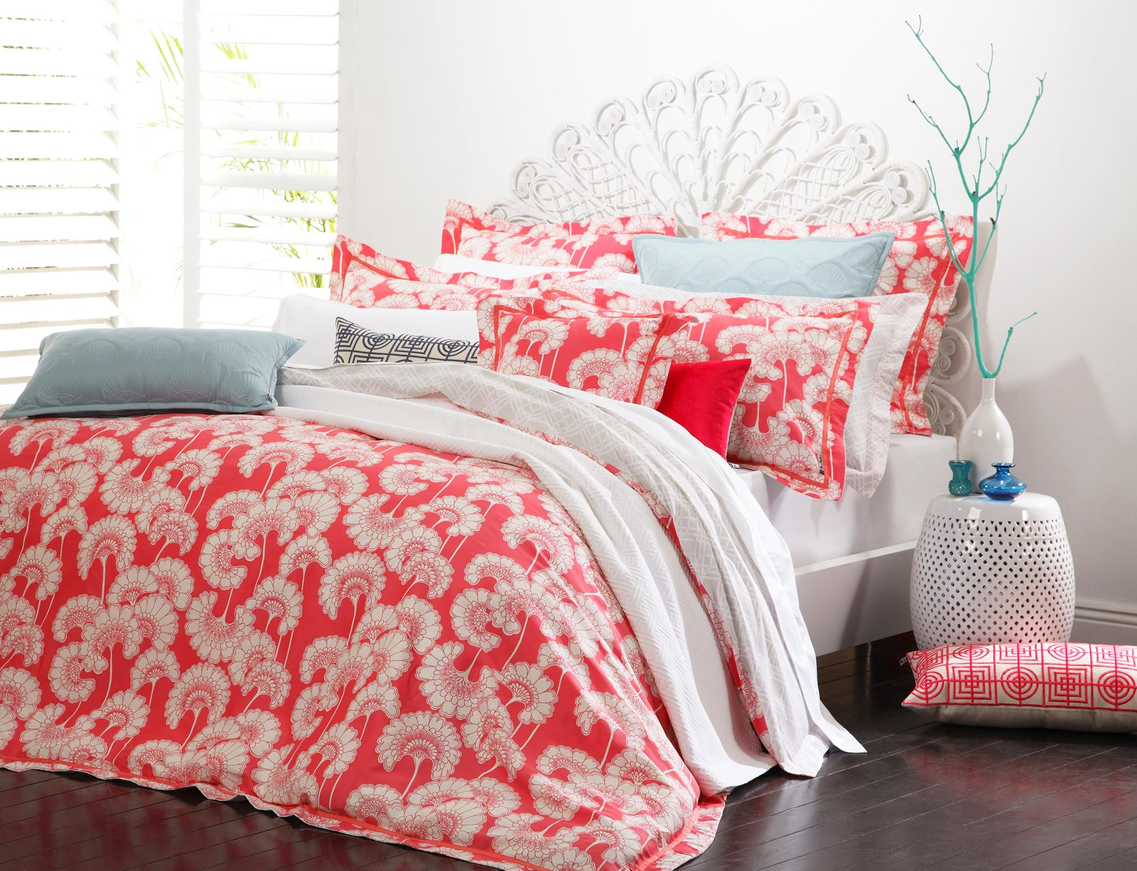 Florence Broadhurst Japanese Floral Shell Pink Duvet Cover