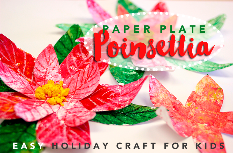 Paper Plate Poinsettia Holiday Craft For Kids Deep Space Sparkle Christmas Art Projects Holiday Crafts Easy Holidays Crafts