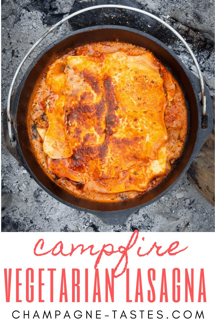 Campfire Vegetarian Lasagna Recipe In 2020 Vegetarian Dutch Oven Recipe Dutch Oven Recipes Dutch Oven Cooking