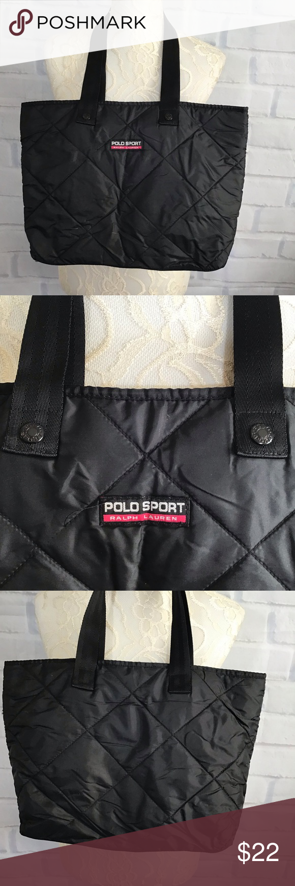 7c50566473 Polo Sport Ralph Lauren Quilted Black Tote Polo Sport Ralph Lauren Quilted  Black Tote