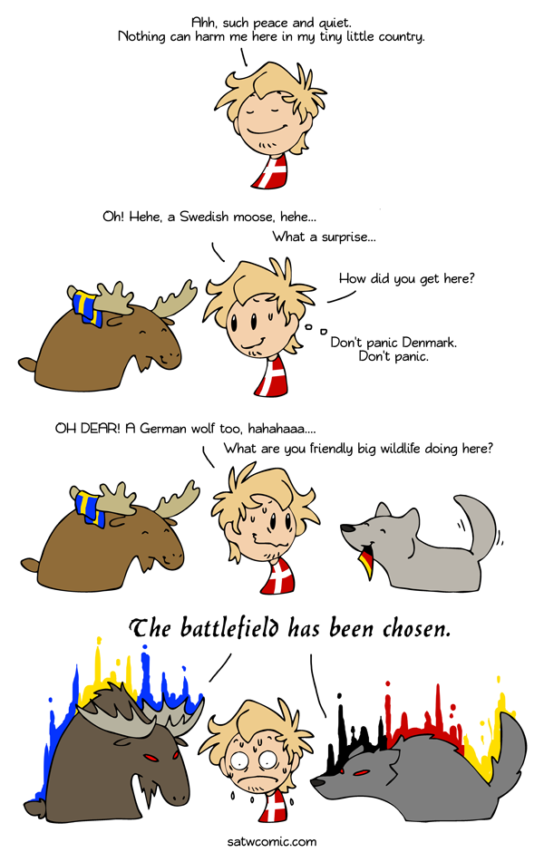 Happy Friendly Animals Scandinavia And The World Satw Comic Scandinavia Funny Comics