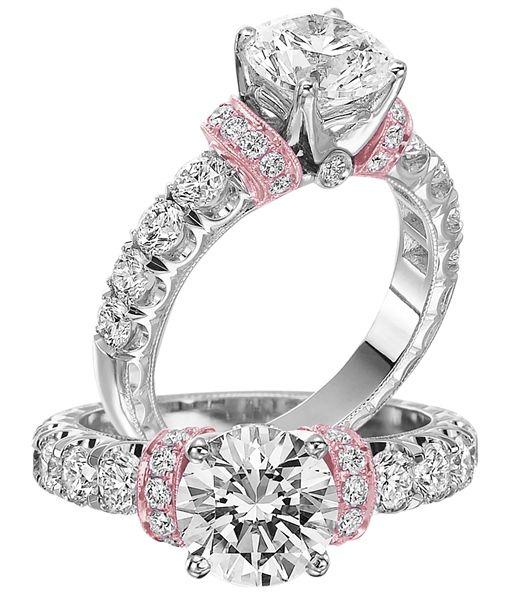 Jack Kelege #rosegold accent diamond #engagementring