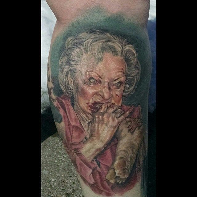 That Dead Ed Zimmer guy sure does love his zombies! Check out that portrait of Betty White!