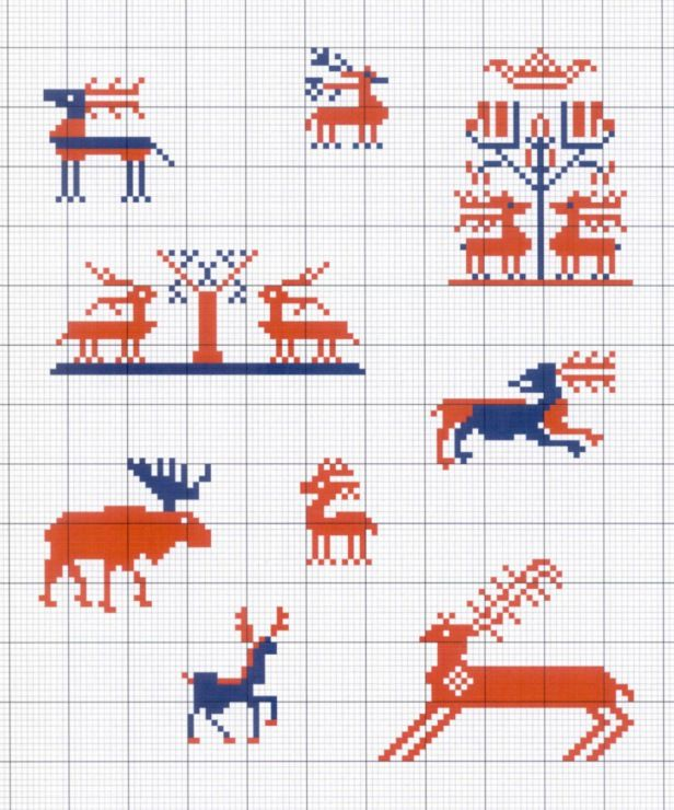 Gallery.ru / Фото #13 - Motif scandinaves traditionnel - Mongia ...