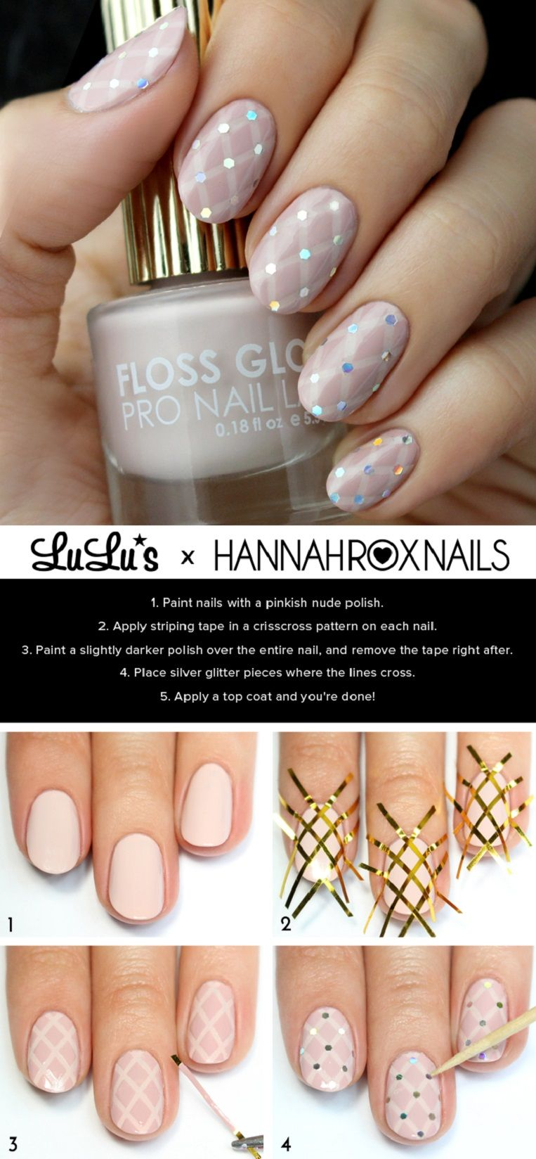 Nude Quilted Nail Tutorial - 15 Best Beauty Tutorials for Winter ...