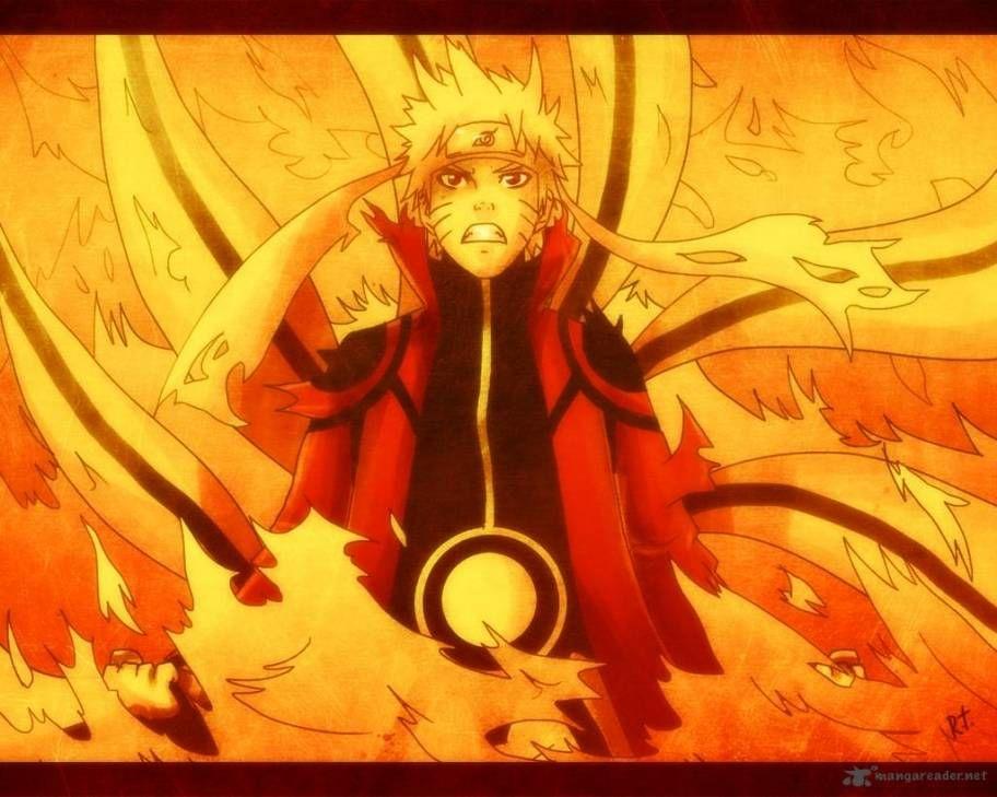 Naruto With The Nine Tails Chakra Naruto Uzumaki Naruto Naruto Nine Tails