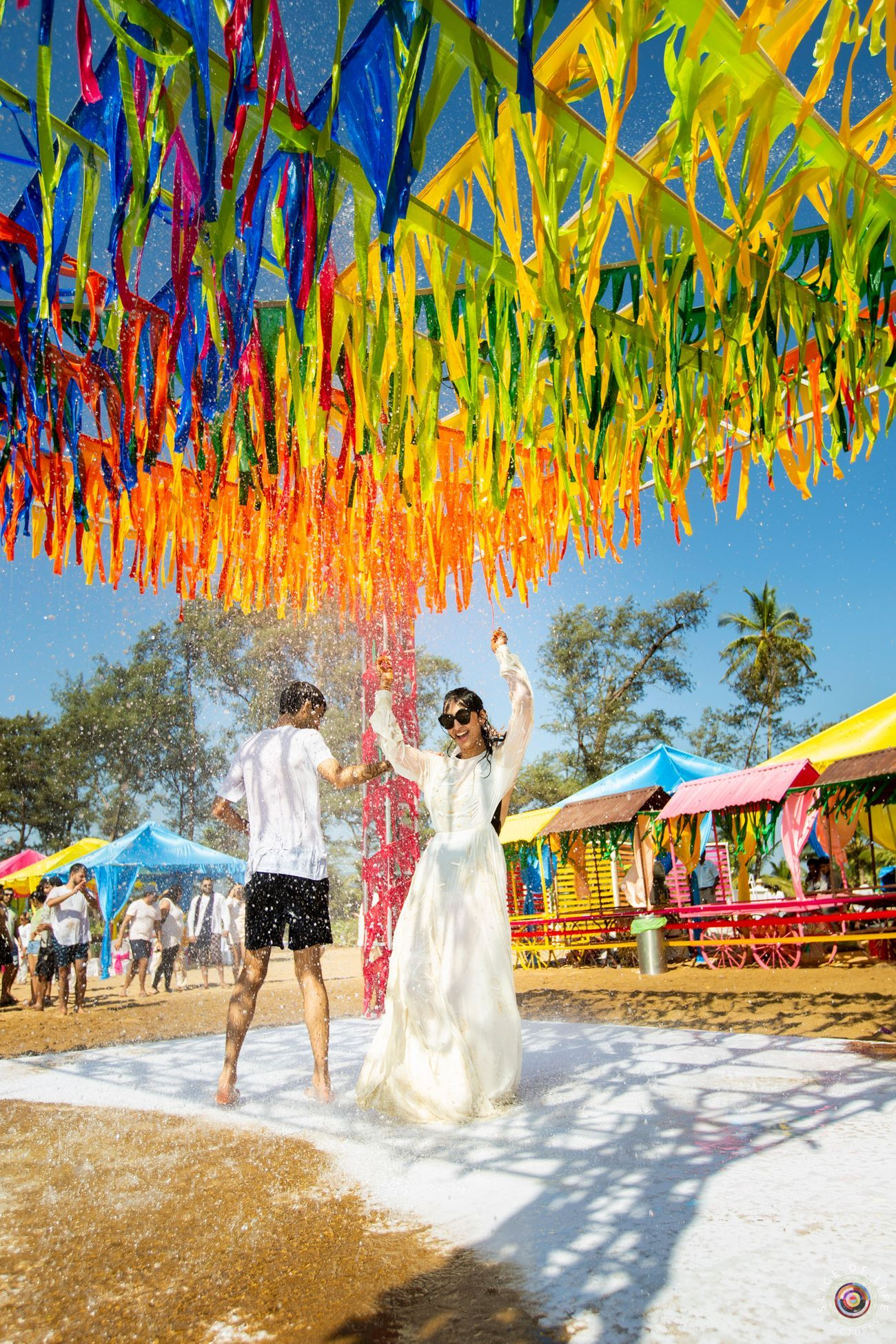 A Funfilled Goa Wedding With PreWedding Holi Function