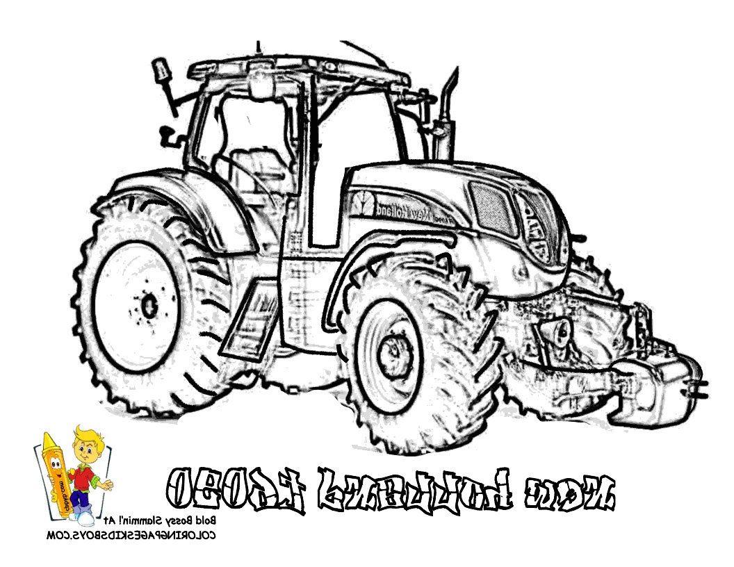 Coloriage A Imprimer Tracteur New Holland Dessins Gratuits
