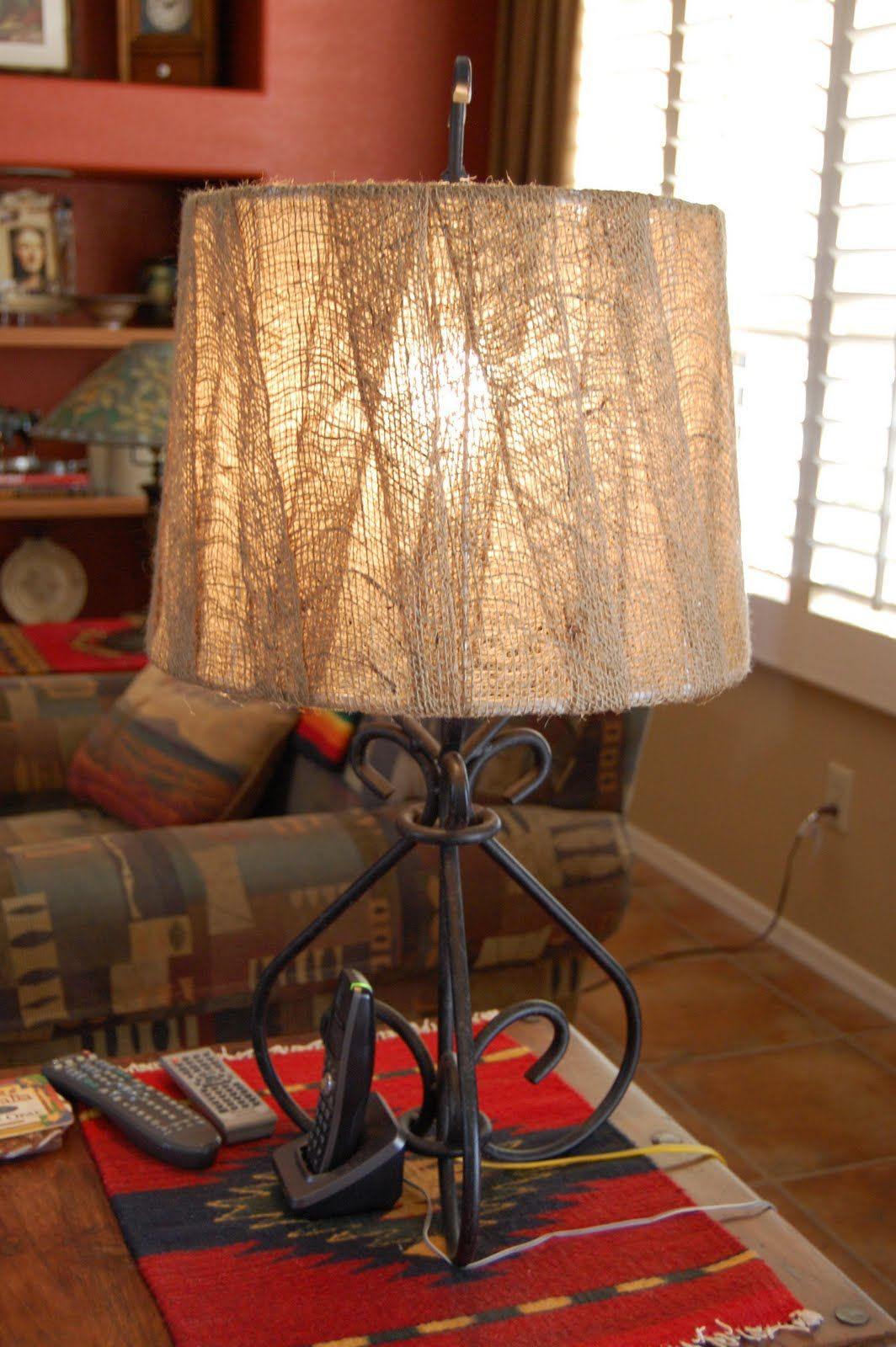 Dimples and Tangles: My Fall Decor -- wrap a strip of burlap ...
