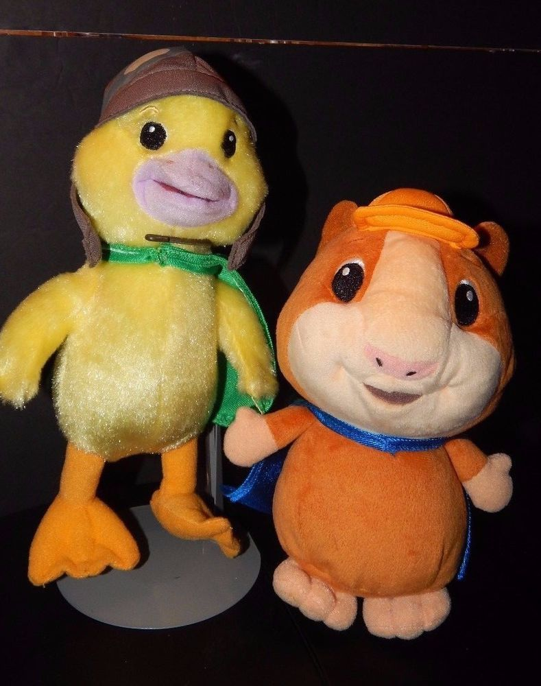 Wonder Pets Linny The Hamster Ming Ming Duck Plush Lot Nick Jr