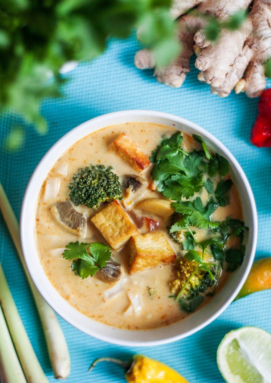 Mniumniu Kuchnia Roslinna Zupa Tajska Z Tofu I Mlekiem Kokosowym Culinary Recipes Cooking Food