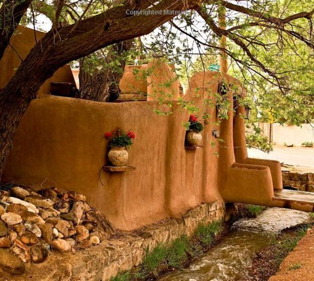 I Dream Of Adobe Walls In My Backyard Mud House New Mexico Style Santa Fe Home