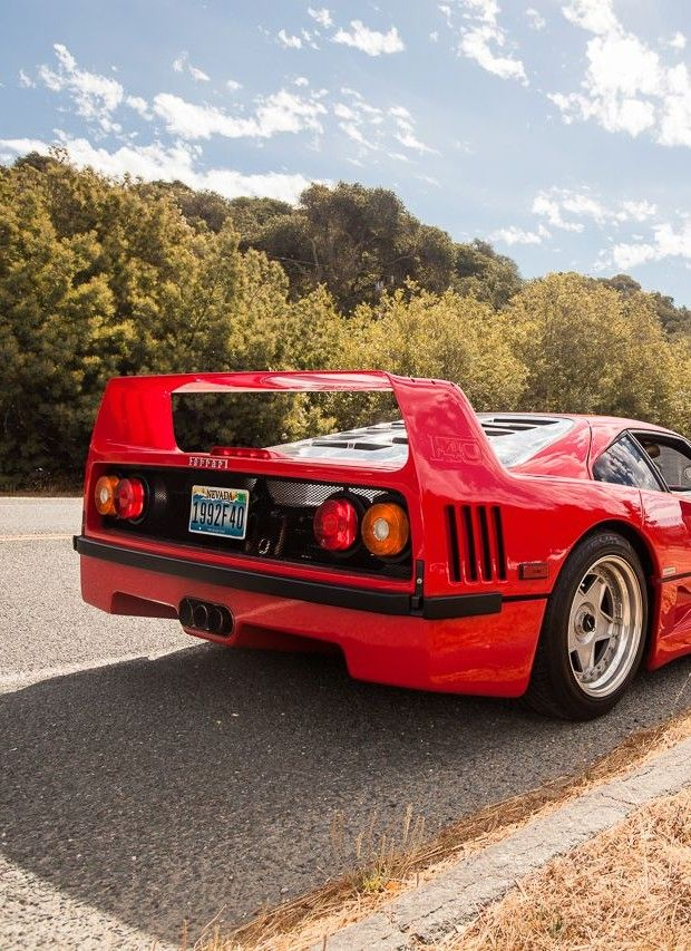 Ferrari F40, probably the coolest car of the 80s.