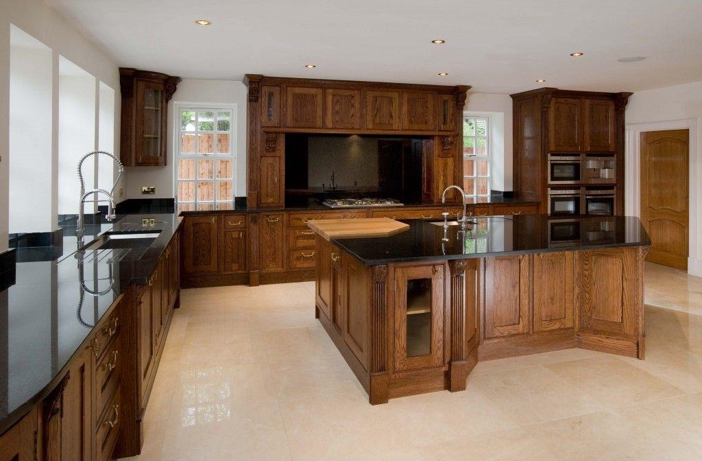 Image Result For Dark Oak Kitchen