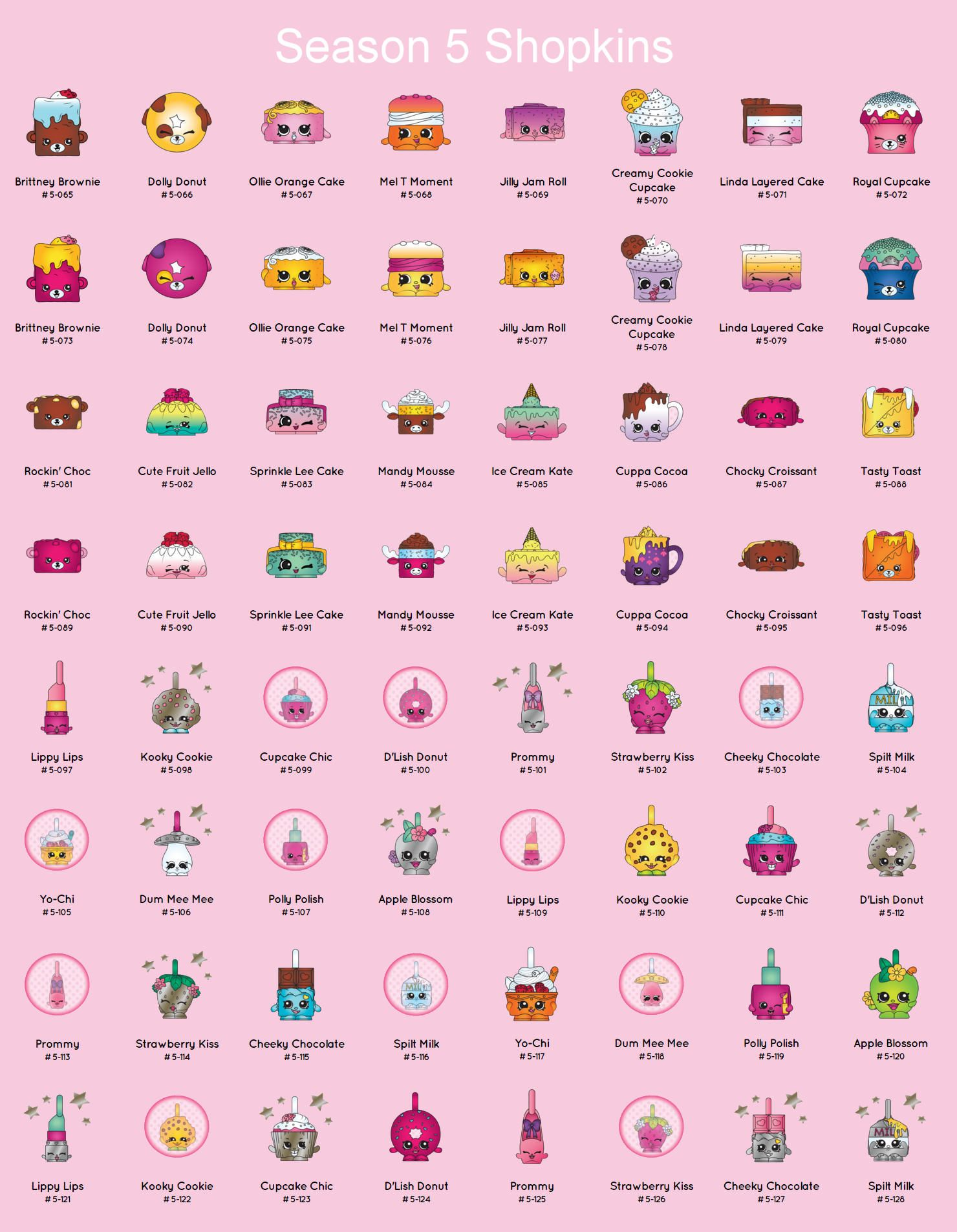 photograph about Printable Shopkins List called Shopkins Year 5 Printable Total Record Shopkins Keep an eye on Lists