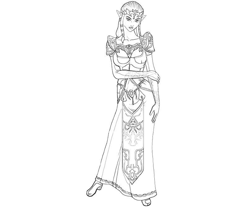 Princess Zelda Coloring Pages Coloring Pages Adult Pinterest