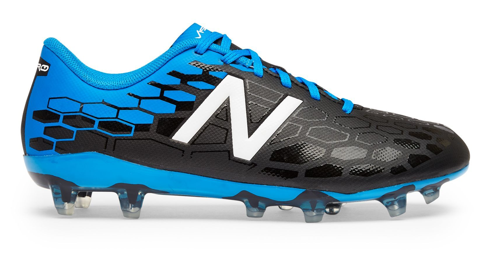 16431355e9b8c NB Junior Visaro 2.0 Control FG, Black with Bolt & Energy Red ...