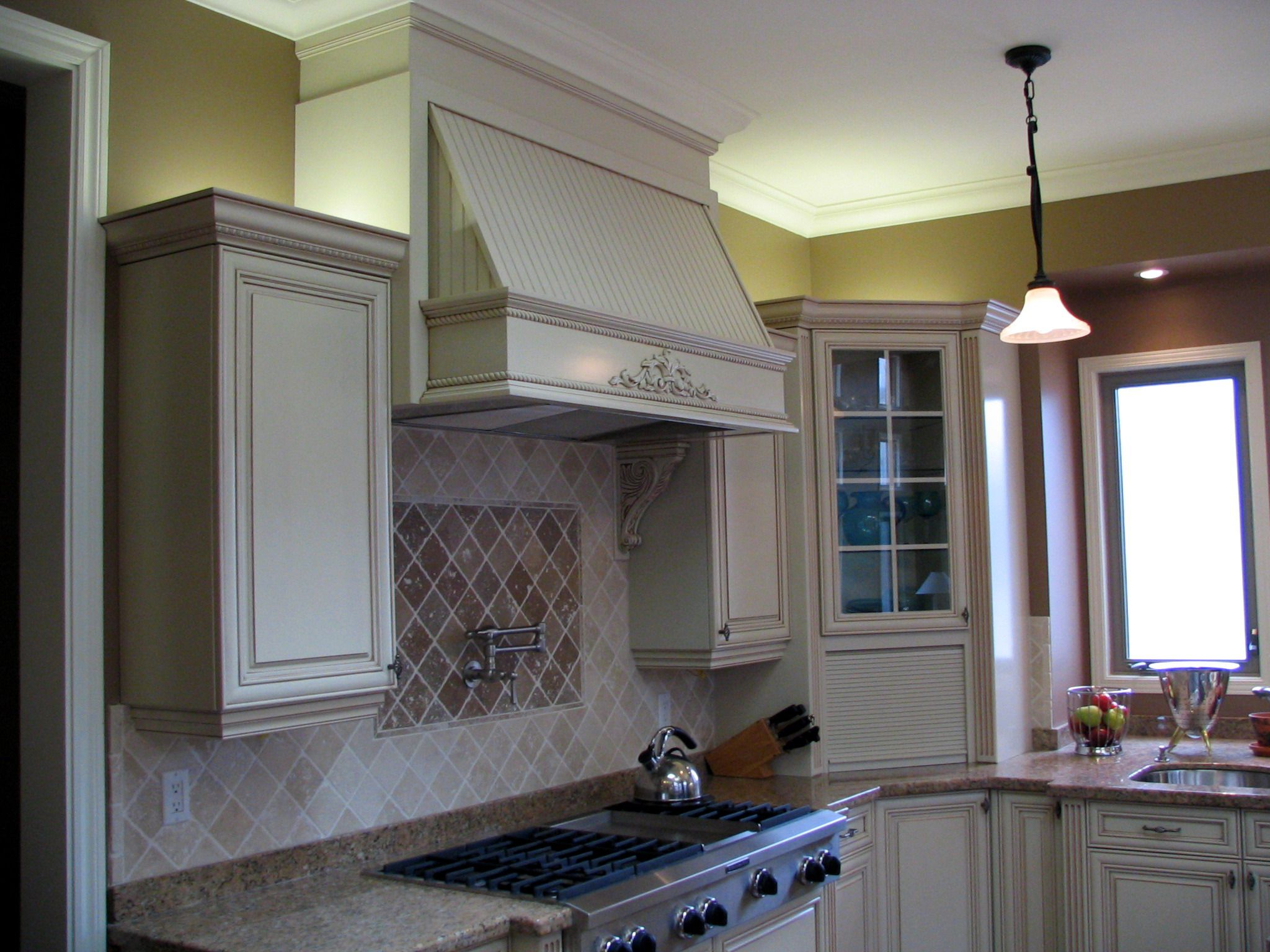 Large Decorative Range Hood above 48\