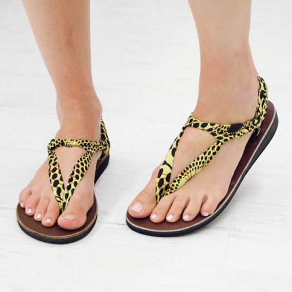 Sunflower Sandals by the socially-conscious Sseko. Only $10 for extra interchangeable straps.