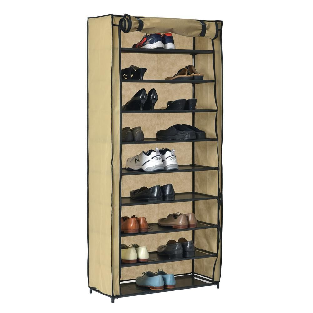 Muscle Rack Shoe Organizer With Cover 30 Pair Src10l Tn