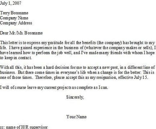 Leaving The Company Letter from i.pinimg.com