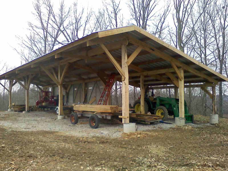 Mill shed show and tell forestry pinterest milling for Log pole barn
